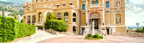 Panoramic view of The Monte-Carlo Casino and Opera House, Monaco - 266269084