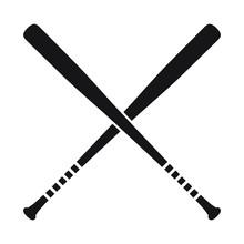 Baseball Crossed Bats Vector I...
