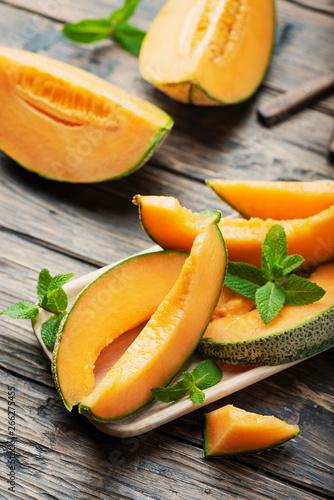 Obraz na płótnie Sweet yellow fresh melon