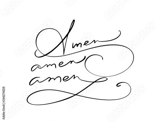Amen vector calligraphy Bible text Canvas Print