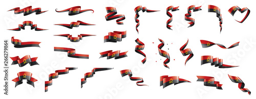 Photo Angola flag, vector illustration on a white background