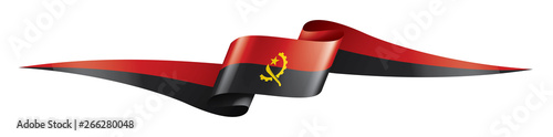 Angola flag, vector illustration on a white background Canvas Print