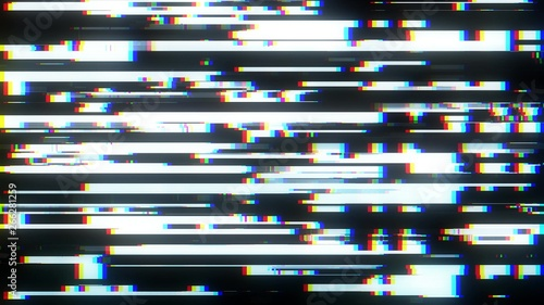 Fotografering  glitch interference screen background illustration new digital technology colorf