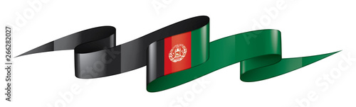 Afghanistan flag, vector illustration on a white background Canvas Print