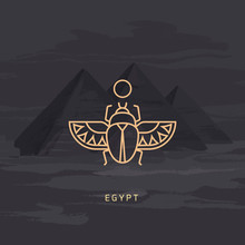 Vector Drawing Icon Of Egyptia...
