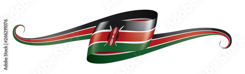 Kenya flag, vector illustration on a white background Poster Mural XXL