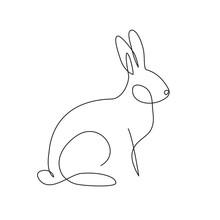 Rabbit Simple Line Art