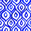 canvas print picture - Seamless pattern with creative texture. Ink background of paint strokes. Blue decore.