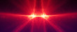 Leinwanddruck Bild - red circular wave glow. kaleidoscope lighting effect.