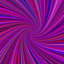 Purple Spiral Background - Vector Design From Rotating Rays In Colored Tones