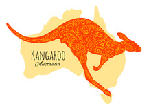 Ornate Kangaroo, Sketch For Your Design.