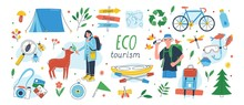 Ecotourism Set. Collection Of ...