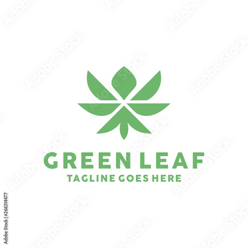 Green Leaf Logo Icon Vector Design  Symbol Garden, Plant