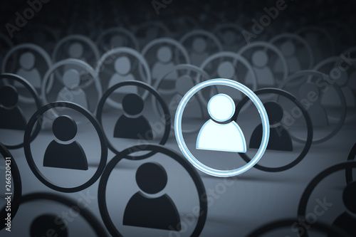 Leinwand Poster 3D Illustration Profil digital