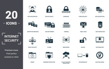 Internet Security Icons Set Co...