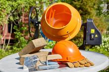 Protective Clothes And Concrete Mixer