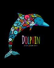 Dolphin Ornate Logo, Sketch Fo...