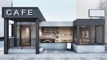 Front View Cafe Shop & Restaur...