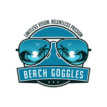 Beach Sunglasses Emblem Logo