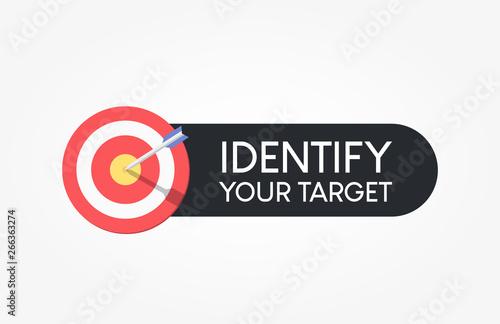 Fotomural  Identify Your Target Dartboard Label