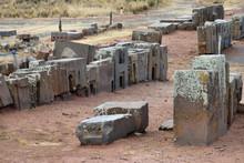 Ruins Of Pumapunku Or Puma Punku