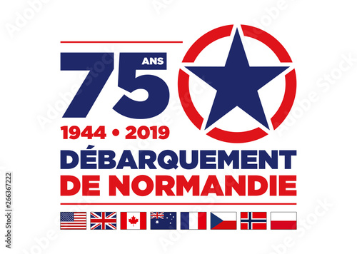 Photo  Débarquement de Normandie - 75ème Anniversaire