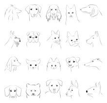 Vector Outline Images Of Dogs ...