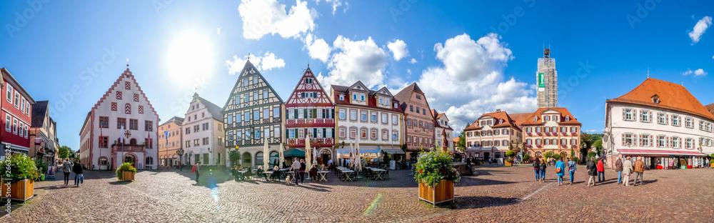 Fototapeta Bad Mergentheim, Marktplatz, Deutschland,