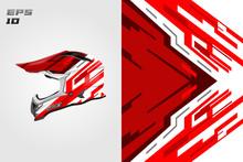 Helmet Wrap Motorcycle Design Vector . Eps 10