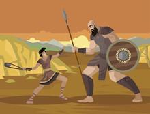 David And Goliath Old Testamen...