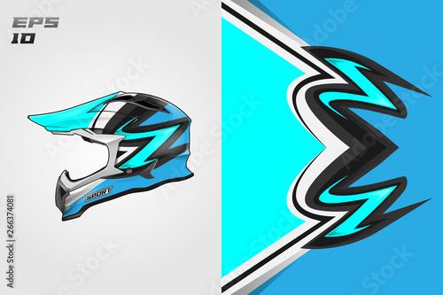 Helmet wrap vector motor design, livery background Eps 10 Wallpaper Mural