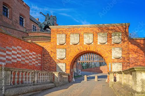 Obraz Zamek Wawelski, miasto Kraków, Polska - fototapety do salonu