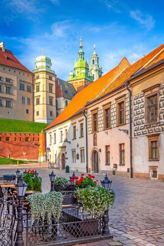 Obraz Malownicza uliczka w Krakowie - fototapety do salonu