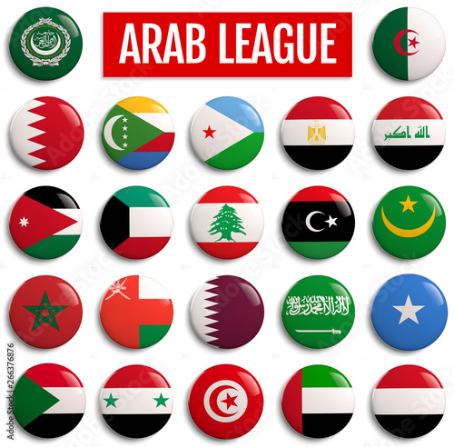 Photographie Arab League Countries Flags