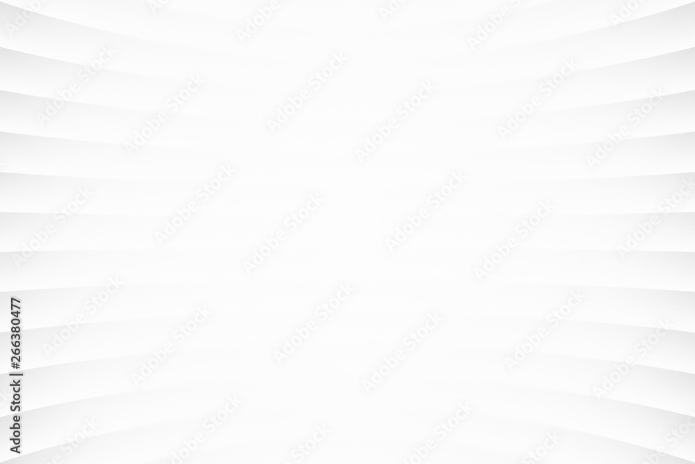 Fototapeta White Clear Blank Subtle Abstract Geometrical Background In Ultra High Definition Quality. Monotone Light Empty Concave Surface. Minimalist Style Wallpaper. Futuristic 3D Illustration
