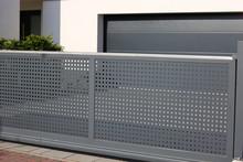 Elektrisches Schiebetor / Rolltor Aus Edelstahl (Electrical Sliding Gate / Rolling Gate)