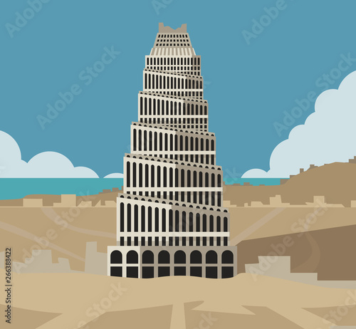 Canvas tower of babel  old testament tale