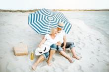 Happy Senior Couple Relaxing, ...