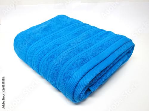 Photo  Sky Blue Dobby Bath Towel, Blue Patch Ruffy Grey Towel, Classic Bath Towel Stone