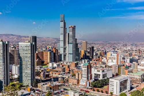 Foto  Bogota Skyline cityscape  capital city of Colombia South America