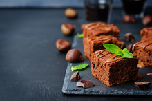 Chestnut Brownies With Chocola...