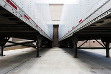 Truck Trailers At Loading Dock