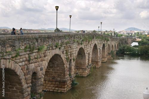 Puente Romano En Merida Badajoz Buy This Stock Photo And Explore