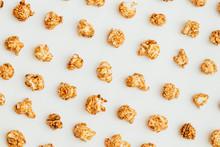 Popcorn Kernels On White Backg...