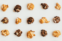 Popcorn Kernels On White Background
