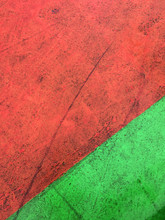 Concrete Pavement Painted Red And Green