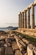 Temple Of Poseidon On Cape Sounion