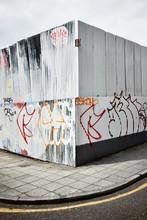 Graffiti On A Metal Wall
