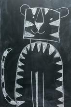 Chalkboard Tiger