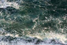 Green Ocean Water Background